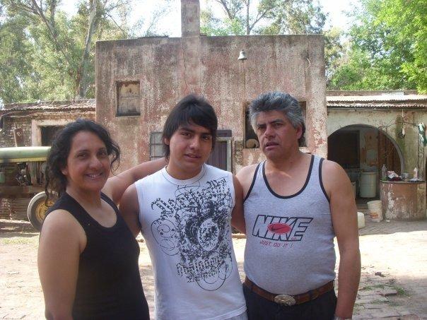Gaston and his parents Patricia and Alberto Madera