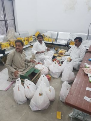 Store room where the bags of food are prepared