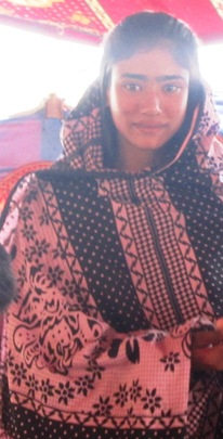 A girl newly enrolled for free education