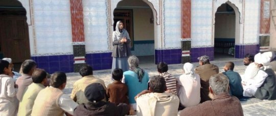 A Session With Community at a Religious place