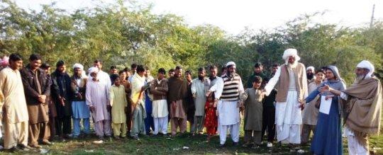 Community Elders promising to educate girls