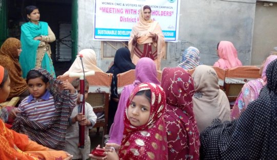 Session with Women by teachers and students
