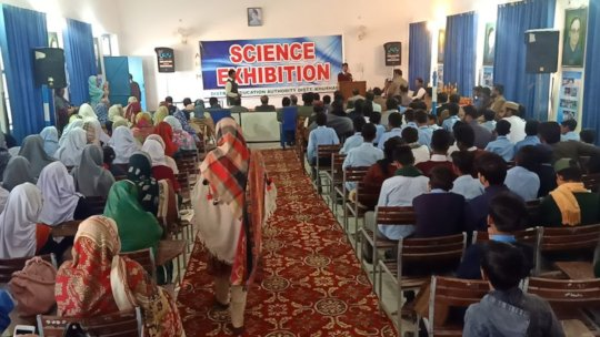 Gathered in Hall for prize distribution