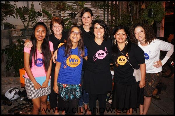 We women team at our 1st screening of the campaign
