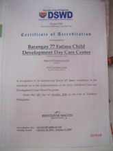 A Certificate of Accreditation