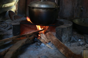 Every meal for her family is cooked in this pot