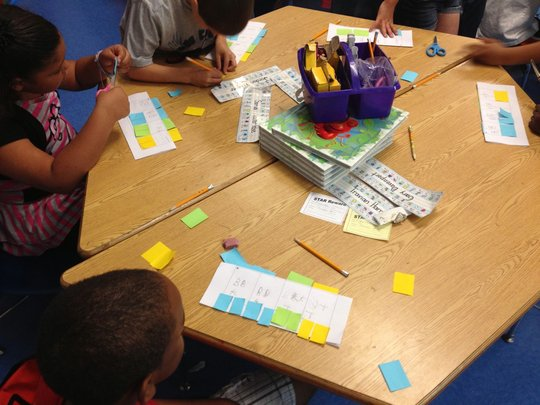 Color coded fractions