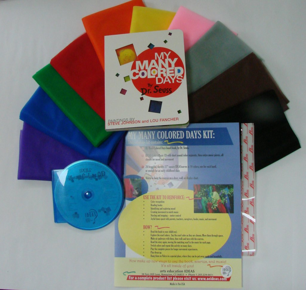 Scarf activity play kit with music CD