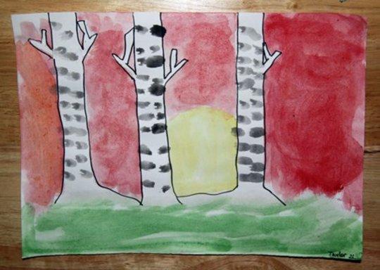 2nd grader shares his inspired art work