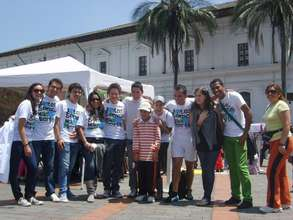 World Diabetes Day, Quito, some of the FDJE team