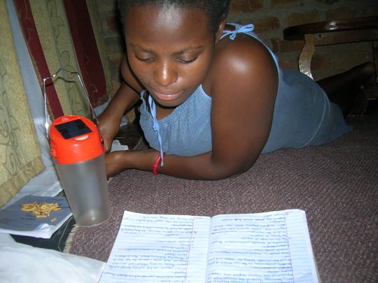Provide solar lamps to 20 school girls in Uganda