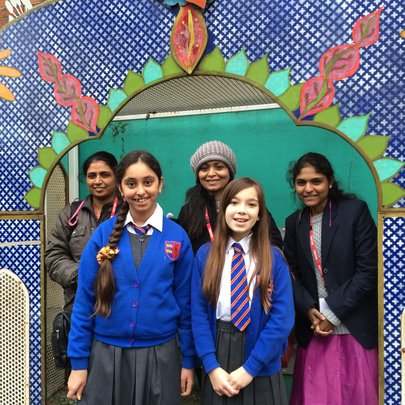 Pupil led tour of UK primary school