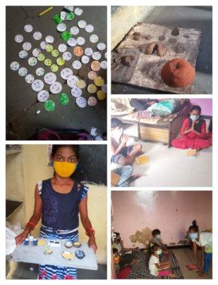 Children share their work via Whatsapp
