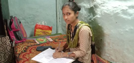Simran studied from home