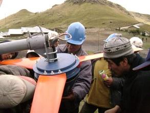 SP Engineers installing the turbine.