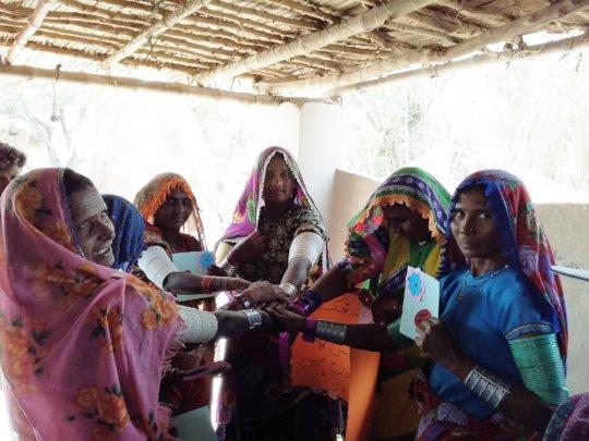 Bajani community during meeting