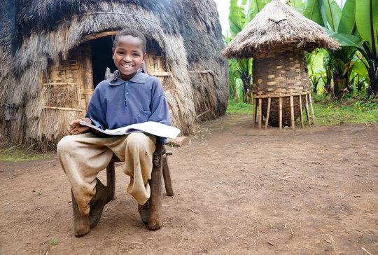 Daniel, with his school books