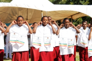Students perform Trachoma song