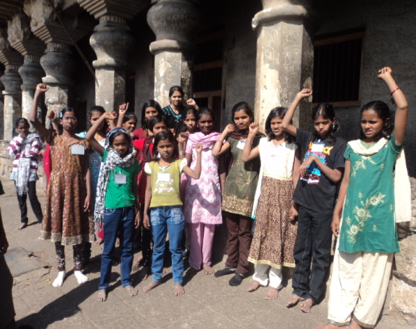 Prajakta and other child parliament members