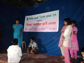 Deepali and Child Parliament at Global Action Week