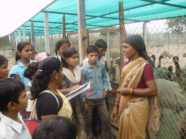 Deepali at the Imu Breeding Centre