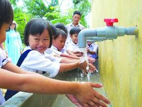 School Children Enjoying Fresh Water