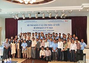 Participants at EMW's water management workshop