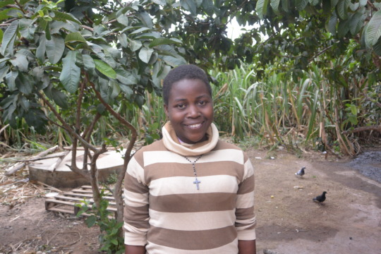 Stella, a beneficiary of the 3 Meals a Day Program