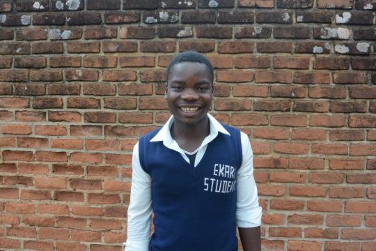 Wilson in his school uniform