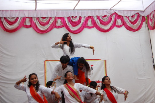 Students performing on 15th of August