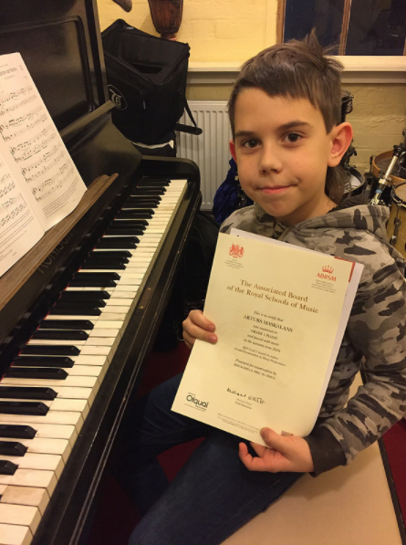 Students completion of ABRSM exam