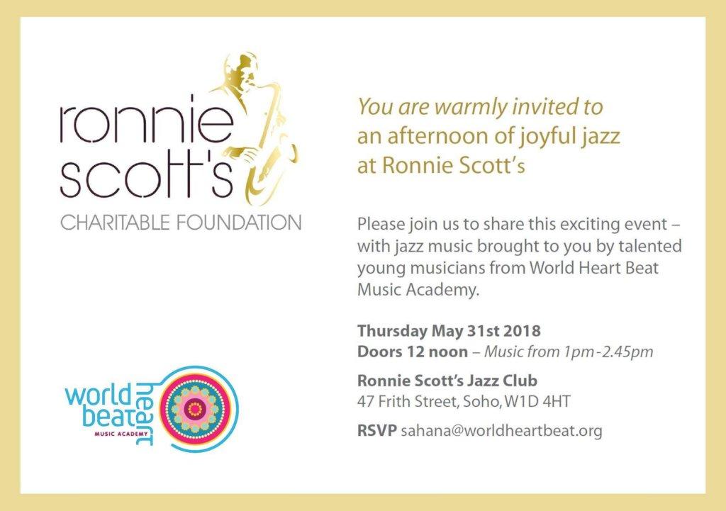 Invitation to Ronnie Scott