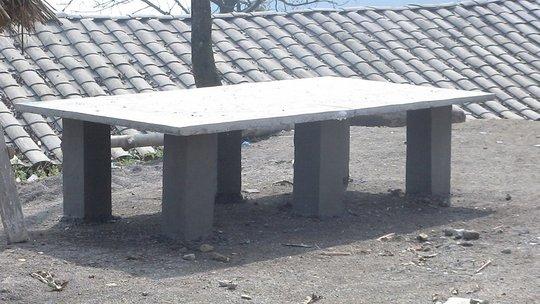 A table-tennis table