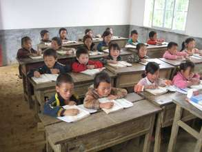 Having lesson in newly-constructed classroom