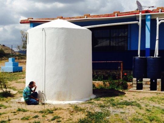 Rainwater system in use at rural elementary school