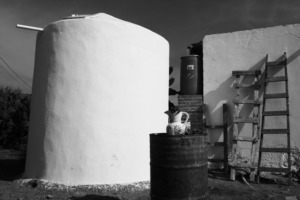 Finished cistern in La Escoba
