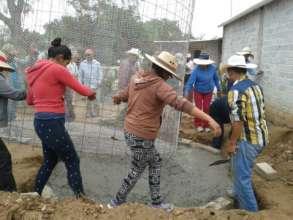 Placing the cistern at the San Antonio training