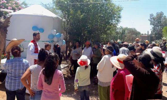 San Jose del Carmen Celebrates 5 new cisterns