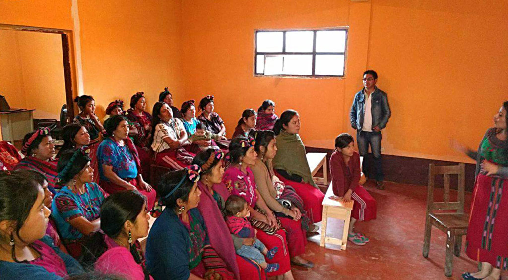 Rouse helps organize an Ixil community of women.