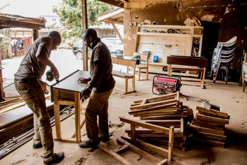 Works continues at the workshop in Jos.
