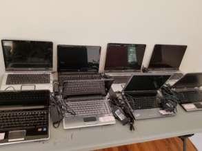 Computers headed to schools in Minna.