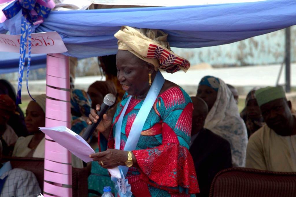 Principal at the award ceremony.