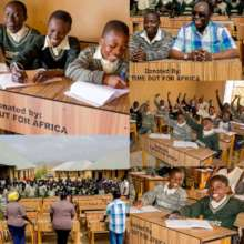 Desk and chairs at Zambiri school in jos