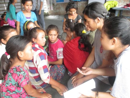 Young girls participating in our program