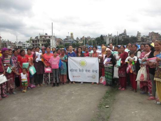 Our Female Friendly Space camp community in Thali