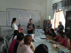 Local doctors conducted the training