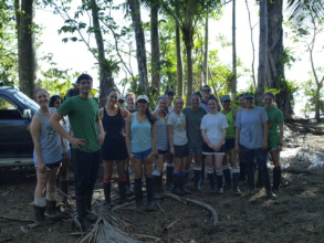 Students ready for mangrove reforestation