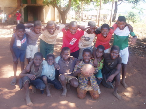 A team of young boys from Gurue