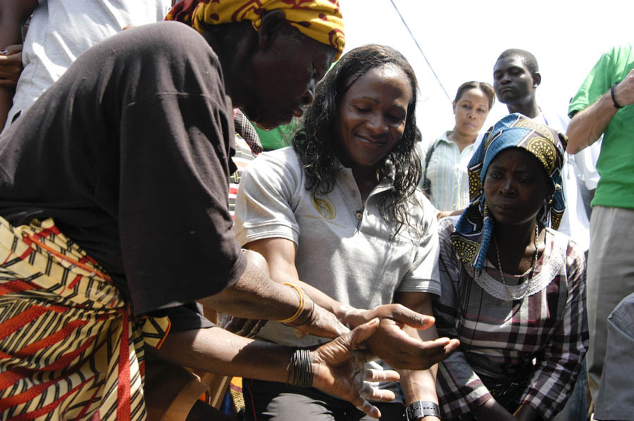 Maria and traditional leader inaugurate the office