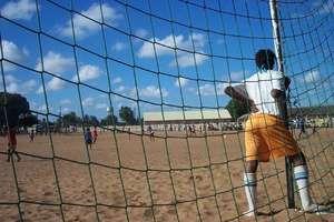 Girl Goalkeeper in Maputo